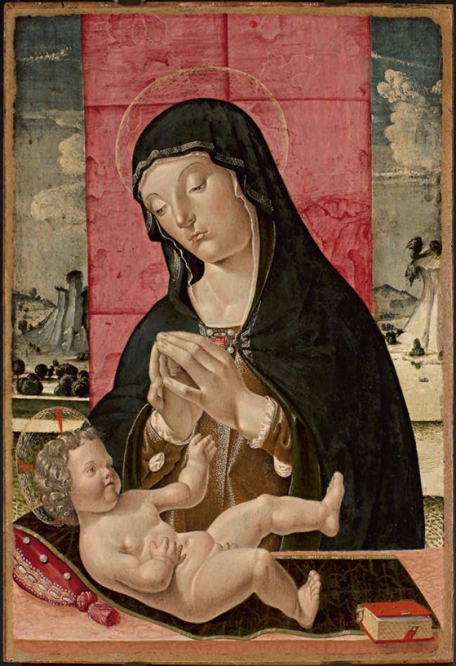 Madonna in adorazione del Bambino