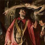 Figura di dignitario con angelo
