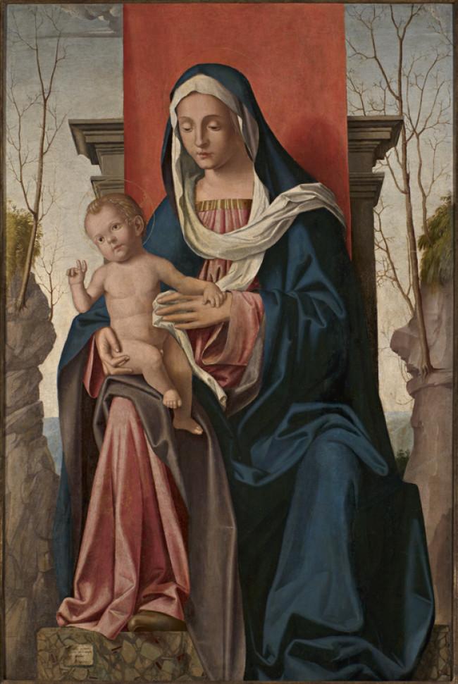 Madonna in trono con il Bambino benedicente
