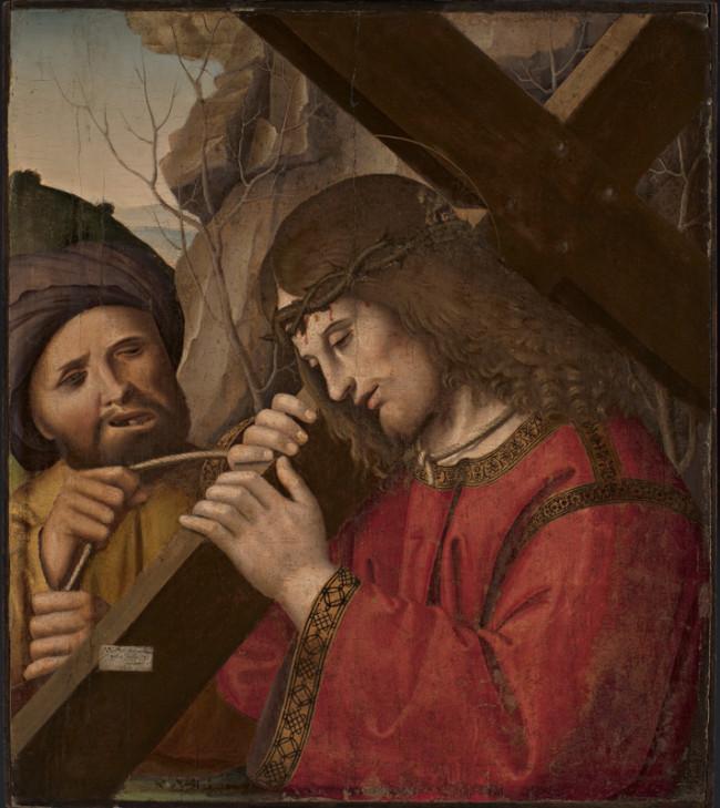 Cristo portacroce con un manigoldo