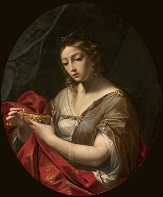 Artemisia con la tazza delle ceneri del marito Mausolo