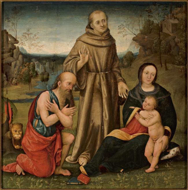 Madonna con Bambino e i Santi Girolamo e Francesco d'Assisi