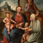 Sacra Famiglia con i Santi Elisabetta e Giovannino