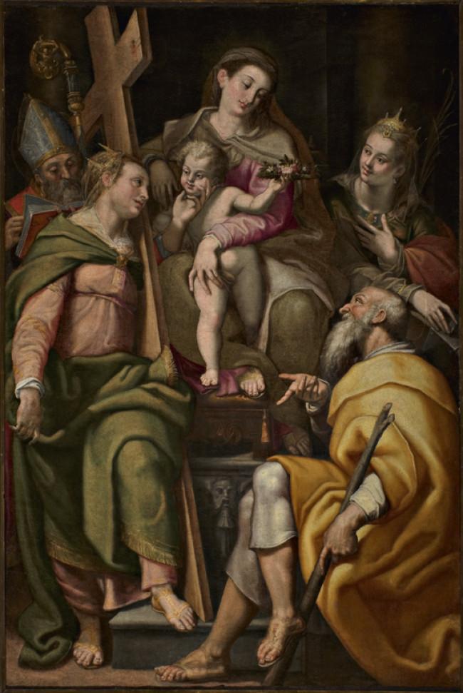 Sacra Famiglia con i Santi Elena, Caterina d'Alessandria e Agostino